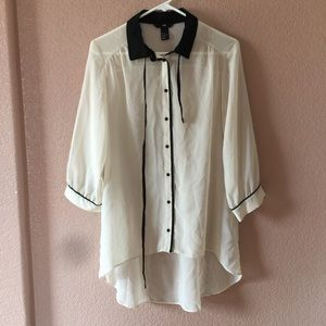 F21 button up blouse